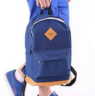 Спортивный рюкзак 114767 синий школьный дно из кожзаменителя размеры 46x33x20см