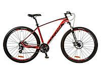 "Велосипед 29"" Leon TN-80 AM 14G DD рама-21"" Al красно-черный (м) 2017"