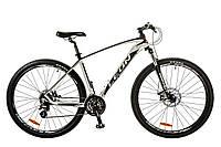 """Велосипед 29"""" Leon TN-80 AM 14G DD рама-21"""" Al бело-черный (м) 2017"""