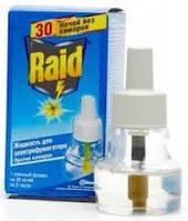 Жидкость от комаров Raid 30 ночей для электрофумигаторов без запаха