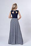 Платье мод 513-3,размер 44,46 бирюзовое с синим, фото 2