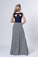 Платье мод 513-2,размер 40-42,44,46 белое с синим