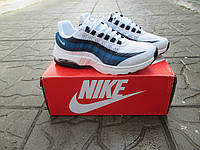 Женские Кроссовки Nike Air Max 95 Ultra белые с синим сетка