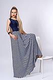 Платье мод 513-2,размер 40-42,44,46 белое с синим, фото 2
