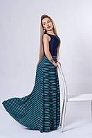 Платье мод 513-3,размер 44,46,48 бирюзовое с синим