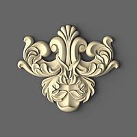 Центральный резной декор из дерева 110х95