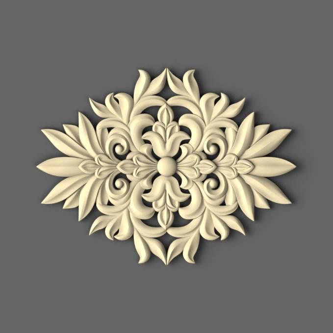 Центральный резной декор на фасад 400х304 - Майстерня дерев'яного декору в Сумской области