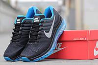 Кроссовки мужские Nike Air Max 2016  черно-синие