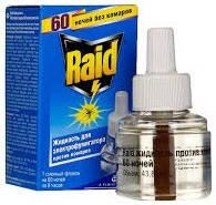Жидкость от комаров Raid 60 ночей для электрофумигаторов без запаха, фото 1