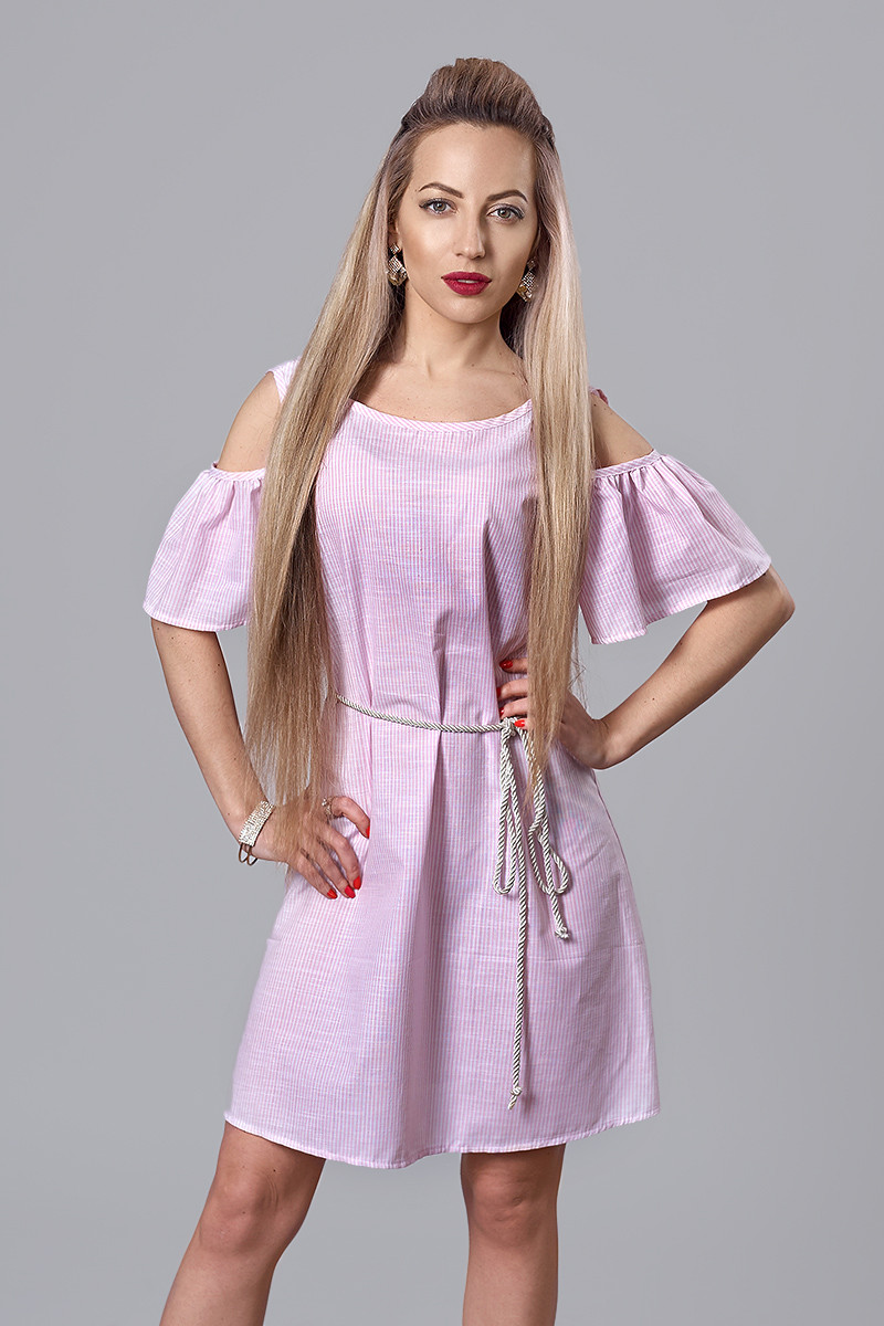 Платье мод. 515-1,размер 48 розовое