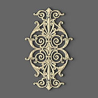 Вертикальный резной декор на двери 250х430