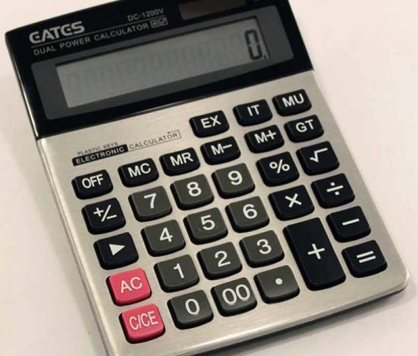 Калькулятор настольный Gates 1200 (18,5х14,5м)