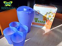 Набор питьевой: Кувшин и стаканы