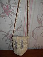 Стильная вязаная сумка с серебристой нитью