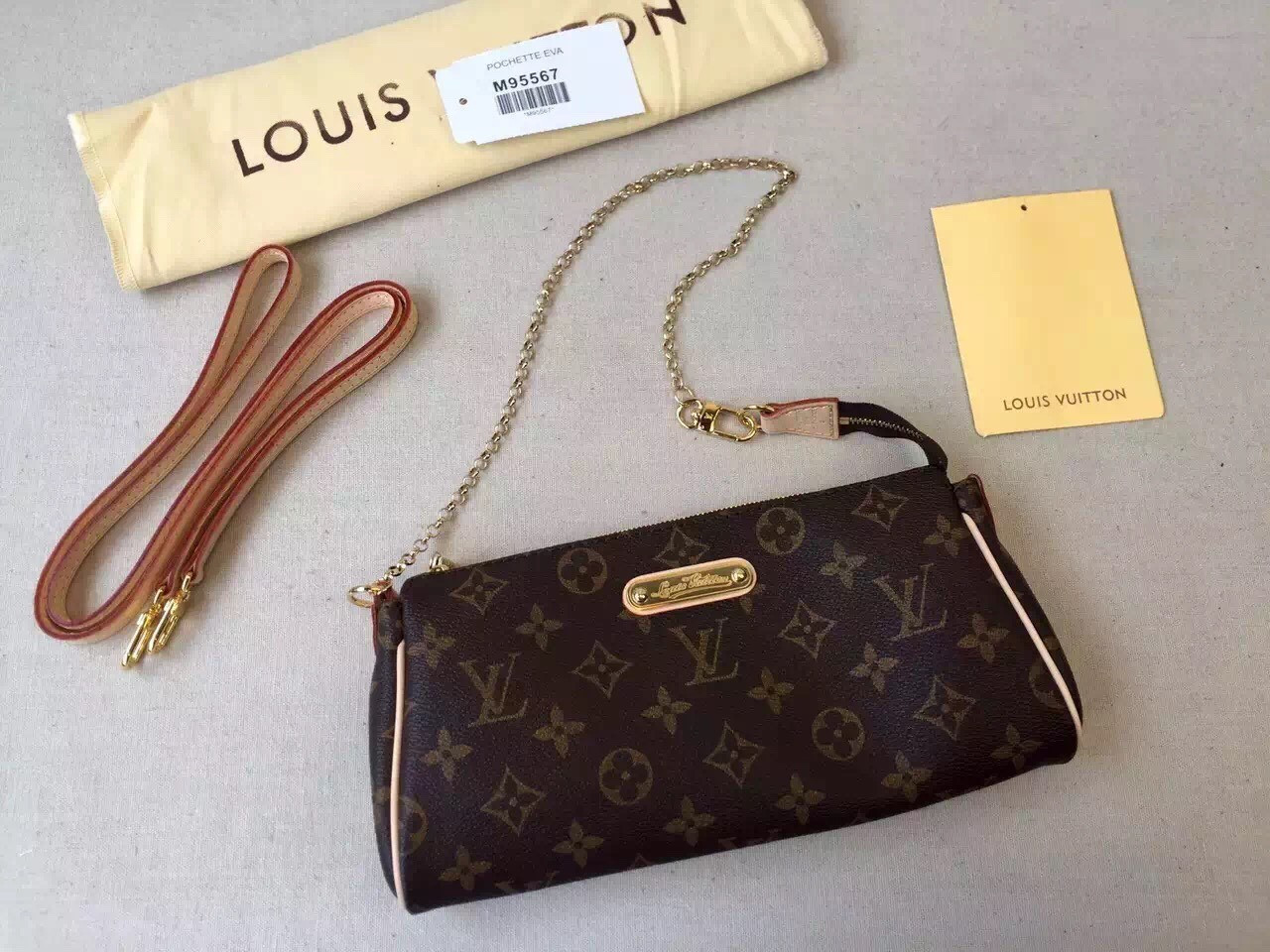 ca37ee3b9d05 Женская сумка Louis Vuitton Eva Monogram Canvas, цена 4 200 грн., купить в  Киеве — Prom.ua (ID#86493214)