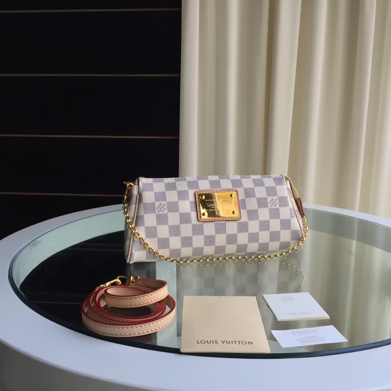 Женский клатч Louis Vuitton Eva Damier Azur Canvas