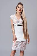 Платье женское мод 181-1,размер 42-44,46-48 белое