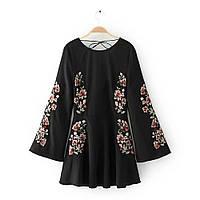 Блузка женская вышитая 404425 Блузки с вышивкой реплика Zara