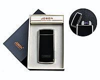 """Электроимпульсная USB зажигалка """"Jobon"""" №4780-2, встряхивая включаем, две перекрестные молнии, счетчик"""