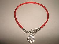 Красная нить с монеткой, фото 1