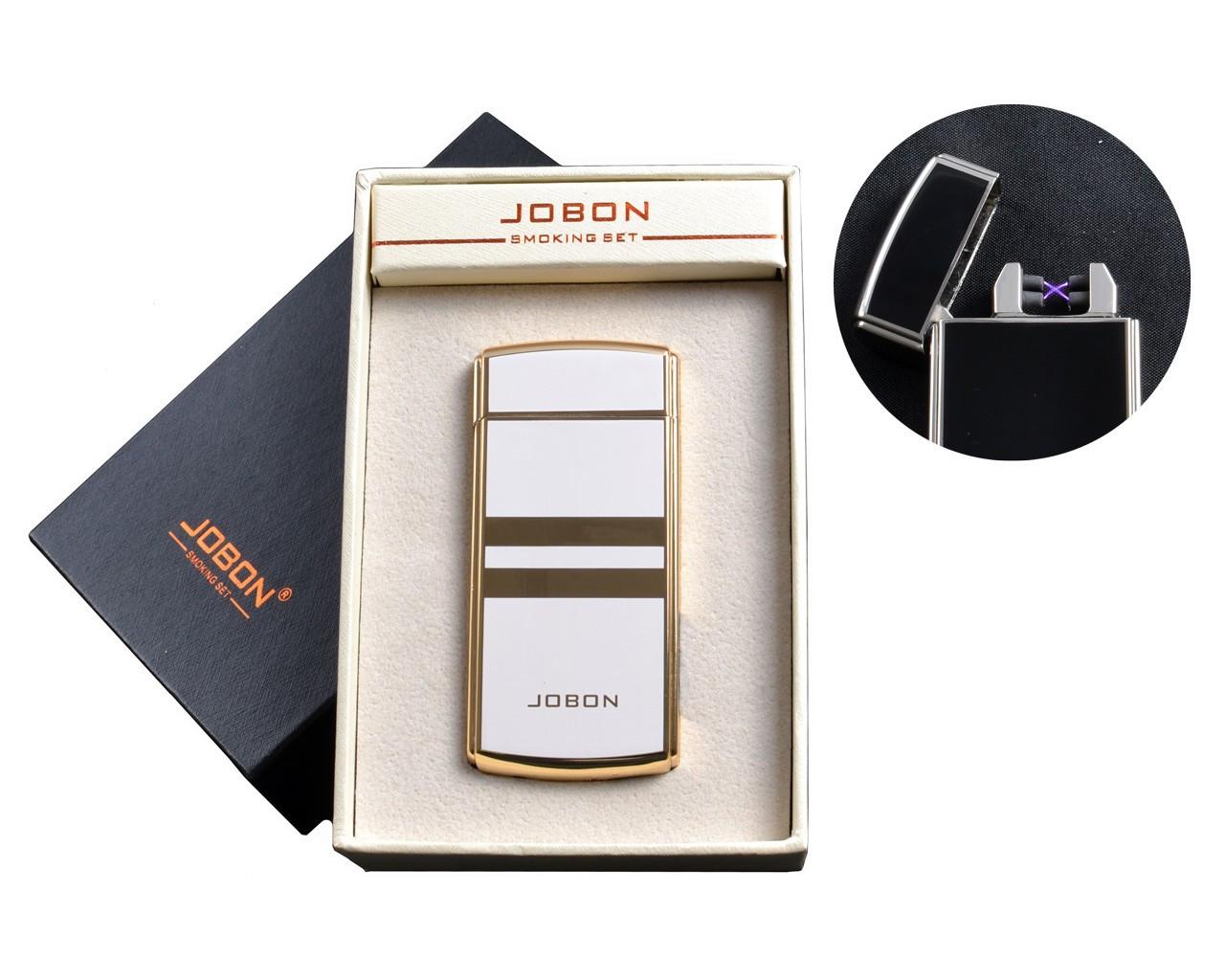 """Электроимпульсная USB зажигалка """"Jobon"""" №4780-3, встряхваем и прикуриваем, две молнии, счетчик использования"""