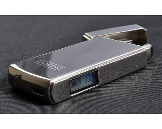 """Электроимпульсная USB зажигалка """"Jobon"""" №4780-3, встряхваем и прикуриваем, две молнии, счетчик использования, фото 2"""
