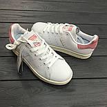 Кроссовки Adidas Stan Smith пудра. Живое фото. Топ Реплика ААА+, фото 4