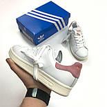 Кроссовки Adidas Stan Smith пудра. Живое фото. Топ Реплика ААА+, фото 5