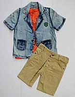Летний костюм на мальчика 2,3,4,5 лет