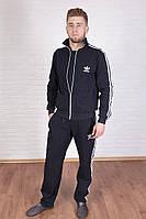 Спортивный костюм мужской, весенний, осенний, черный Адидас
