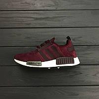 Кроссовки Adidas nmd maroon. Живое фото! Топ качество!