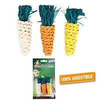 КАРЛИ-ФЛАМИНГО игрушка для грызунов в виде морковки, для гигиены зубов, 3шт, 2х8 см