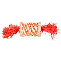 КАРЛИ-ФЛАМИНГО конфетка из соломы игрушка для грызунов, 17 см