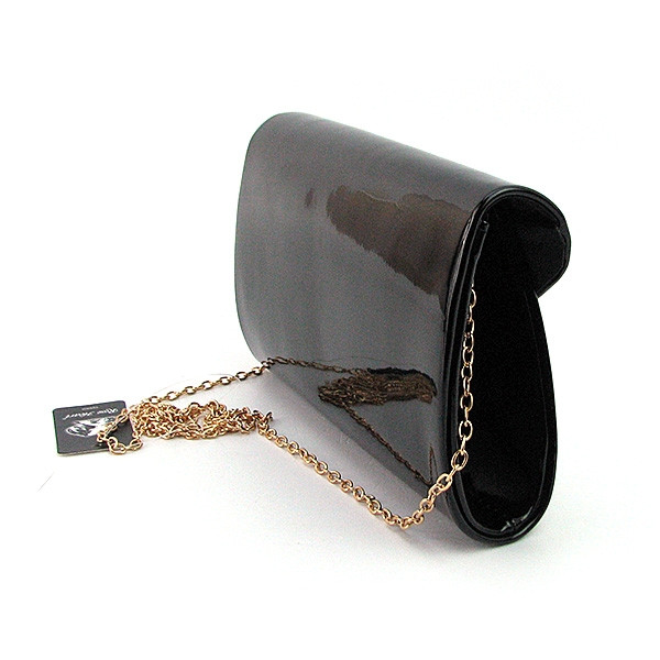 74088385f674 Клатч лаковый женский черный Rose Heart 102817- купить по лучшей ...