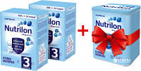 Молочная смесь Nutrilon 3 2 упаковки по 600 г + контейнер в подарок!