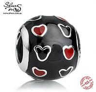"""Серебряная подвеска-шарм Пандора (Pandora) """" Disney. Микки и сердца"""" для браслета"""