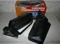 Зеркало автомобильное ВАЗ 2101-07 Interplast черное на болтах (2 шт.)