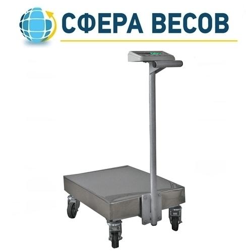 Весы тележка Техноваги ТВ1-12epa (200 кг - 600х700)