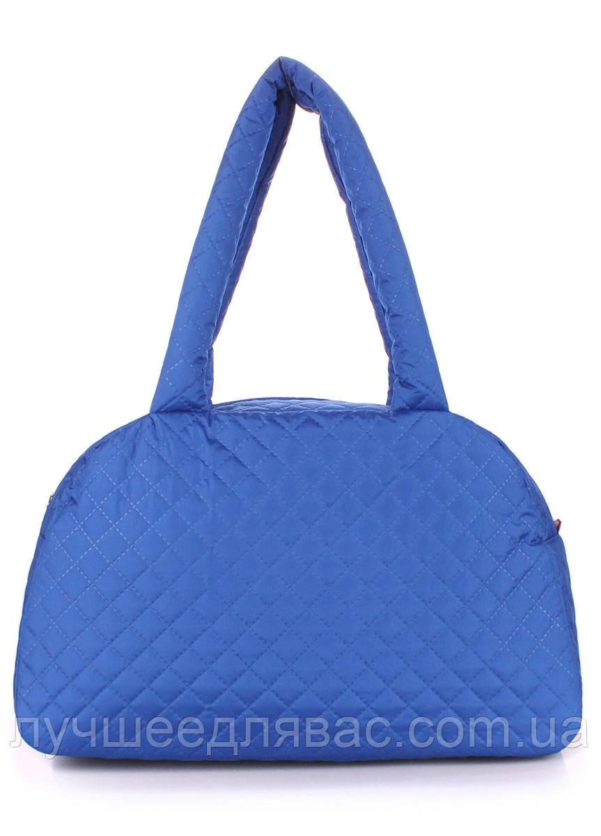 Стеганая сумка-саквояж poolparty s4-eco-brightblue, фото 1