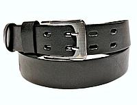 Ремень мужской кожаный 120х4см. Застежка на двух шпильках