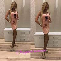 Женское стильное короткое платье ,в расцветках