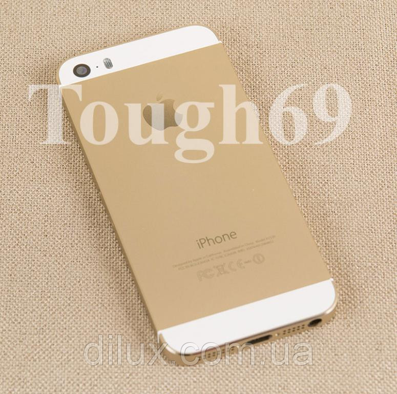 Корпус Apple iPhone 5s шампань  металлический.