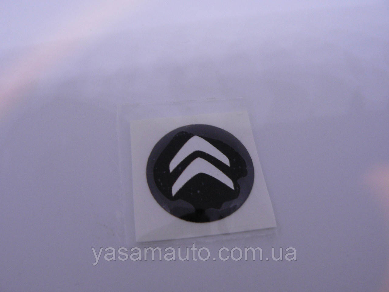 Наклейка s круглая Citroen 20х20х1.2мм силиконовая эмблема логотип марка бренд в круге на авто Ситроен