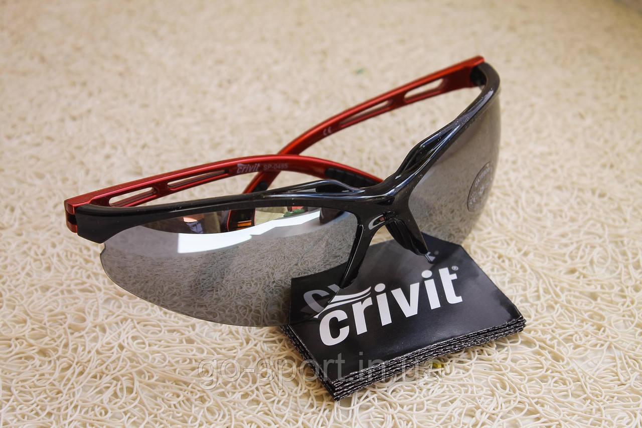 Спортивные солнцезащитные очки CRIVIT черно-красные