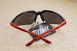 Спортивные солнцезащитные очки CRIVIT черно-красные, фото 3