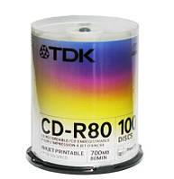 Диск TDK CD-R (700Mb, 52x, cake 100pcs)