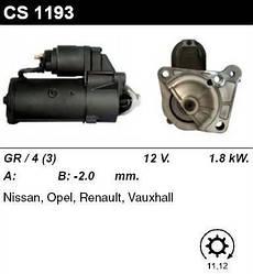 Стартер на Renault Master II 2001->2010, 1.9dCi   —MSG (Италия) - CMS1193