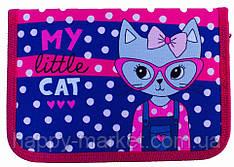Пенал твердый My little cat  1 отд. и 2 отвор. + расписание JO-17023