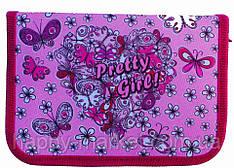 Пенал твердый Pretty Girl 1 отд. и 2 отвор. + расписание JO-17013