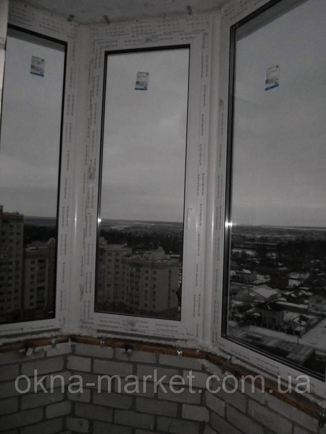 Остекление полукруглого балкона